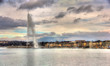 View of Geneva with the Jet d'Eau fountain - Switzerland - 78593889