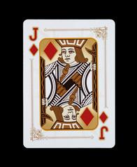 Spielkarten - Poker - Karo Bube im Spiel