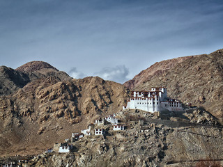 Lekir Buddhist monastery in the Himalayas, northern India