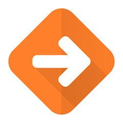 right arrow orange flat icon arrow sign