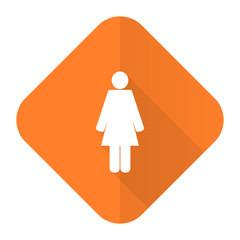 female orange flat icon female gender sign