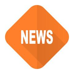 news orange flat icon