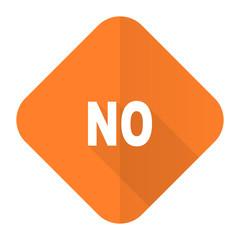 no orange flat icon