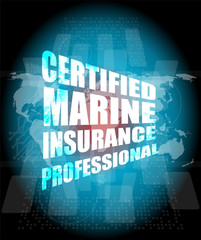 Management: certified marine insurance professional words