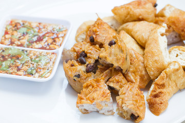 Fried Taro and Black Beans and bean curd