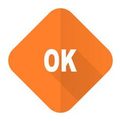 ok orange flat icon