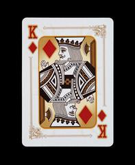 Spielkarten - Poker - Karo König im Spiel