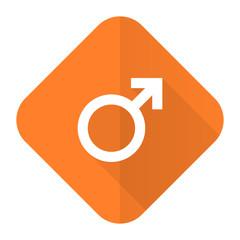 male orange flat icon male gender sign