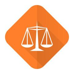 justice orange flat icon law sign