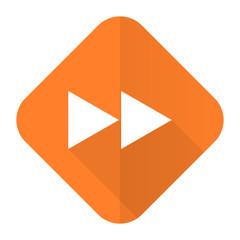 rewind orange flat icon