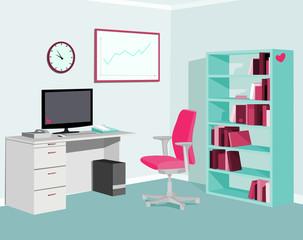 Love Pink Mint Office