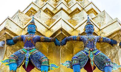 Architecture buddhist artwork spectacular temple in Thailand