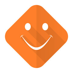 smile orange flat icon