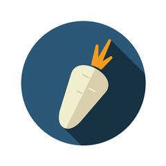 Carrot flat icon with long shadow