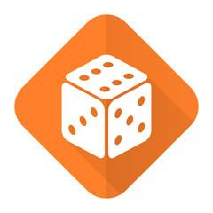casino orange flat icon hazard sign