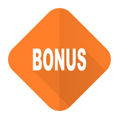 bonus orange flat icon