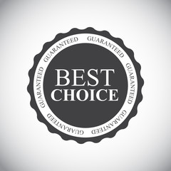 Best Choice Label Vector Illustration