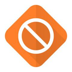 access denied orange flat icon