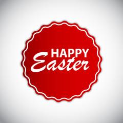 Happy Easter Label Vector Illustration