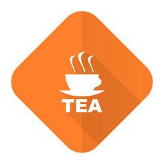tea orange flat icon hot cup of tea sign