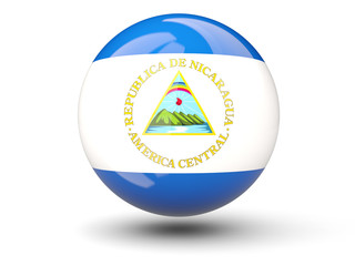 Round icon of flag of nicaragua