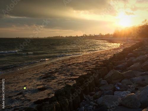 canvas print picture Abendstimmung in Kellenhusen an der Ostsee