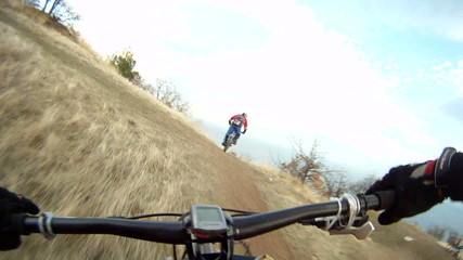 Fast Biking Pursuit in Mountain