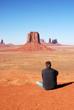 Man at Monumaent Valley, Arizona