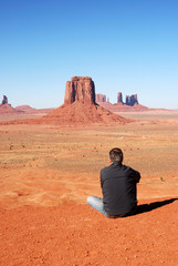 Man at Monumaent Valley, Arizona