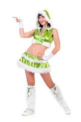 Fairy. Beautiful Girl in green dress