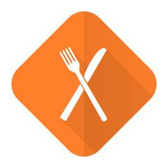eat orange flat icon restaurant symbol