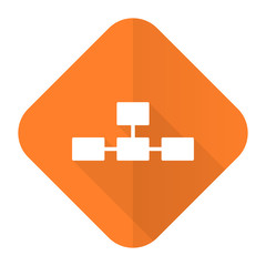 database orange flat icon