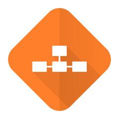 database orange flat icon
