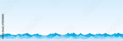 Poster Lichtblauw Sea landscape