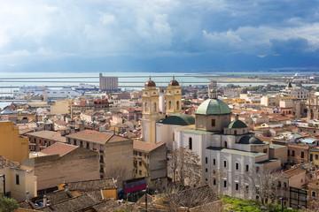 Sardegna, Cagliari, quartiere di Stampace e porto