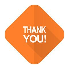 thank you orange flat icon