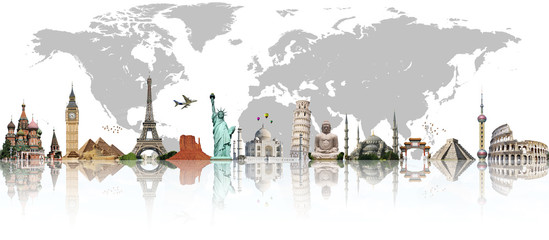 Travel the world monument concept © sdecoret