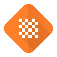 chess orange flat icon
