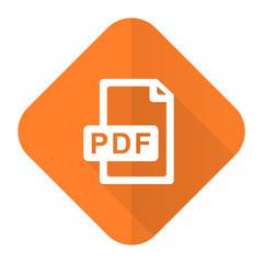 pdf file orange flat icon