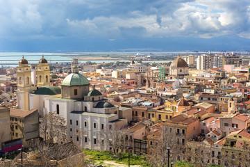 Sardegna, Cagliari, panoramica del quartiere Stampace