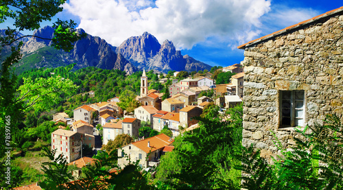 stunning mountain villages of Corsica - Evisa - 78597665