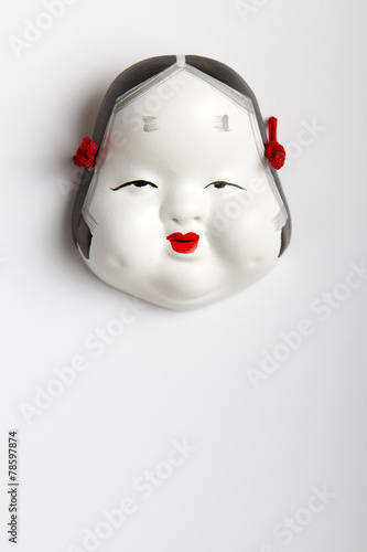 Papiers peints Japon Japanese Traditional Mask on White Background