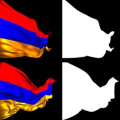 Waving Armenian Flags