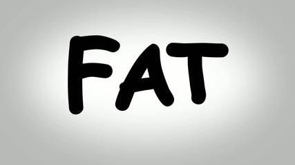 Fat text animation