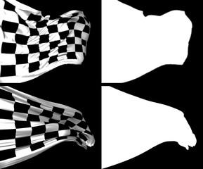 Waving Checkers Flags