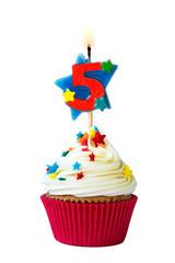 Number five cupcake