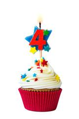 Number four cupcake