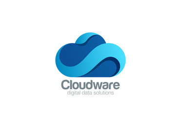 Logo Cloud computing design vector. Data storage icon