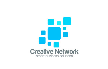 Social Network Logo abstract design vector