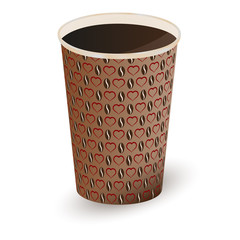 Illustration of coffee in a paper cup . Vector illustration
